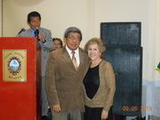 Con Dr. Carlos Garrido Chalén, en presentación de HONTANARES