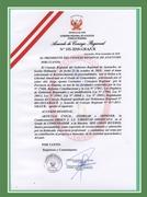 ORDENANZA REGIONAL DE RECONOCIMIENTO