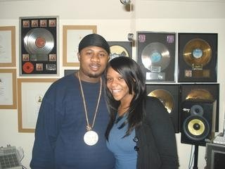 "In the lab producing that Fiyah w/ Kristina Halloway (2011 ""New Artist Of The Year Stellar Award Winner)"