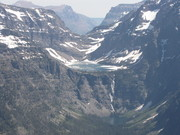 Hanging lakes in Glacier National Park