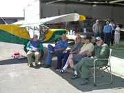 Hangar talk at the Quality Sport Planes Open House