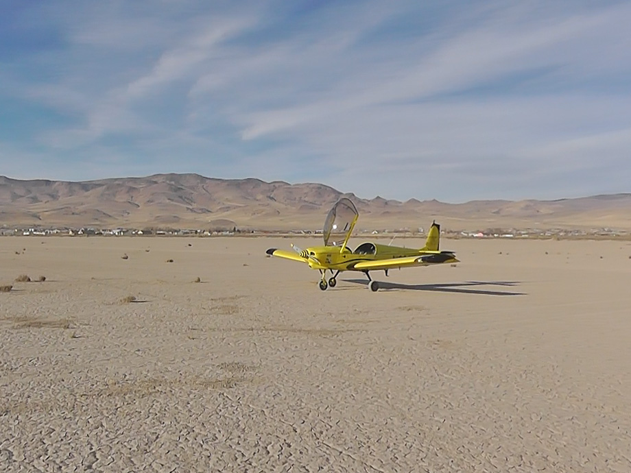 The CH 601 XL-B on a dry lake bed