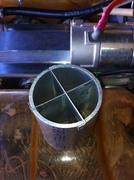 Jabiru induction cross vane airflow straightener