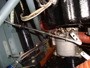 Throttle bracket installed.
