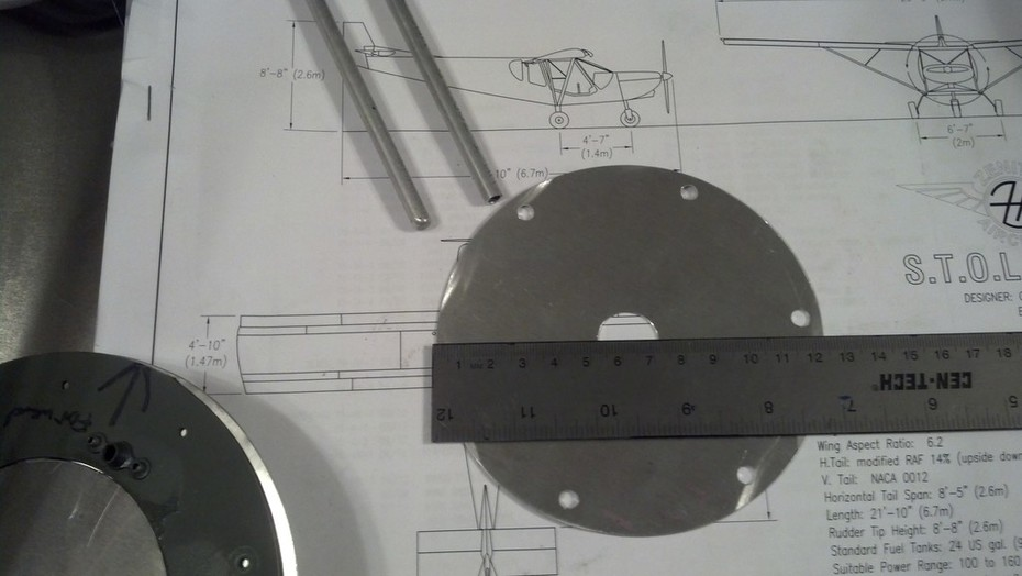 Pitot Access Cover Plate only .032 Alum with Ruler 1