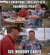 Nose wheel humor