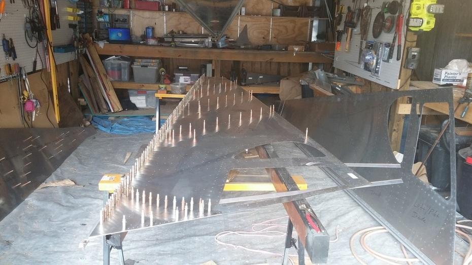 Rear Fuselage Right Side clecoed half size