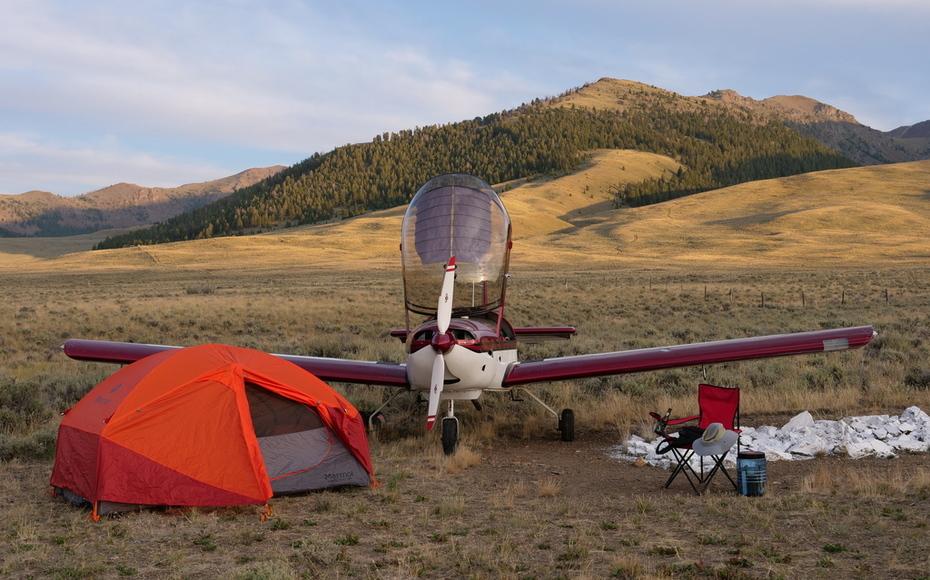 Camping at 8,000 feet in Copper Canyon, Idaho
