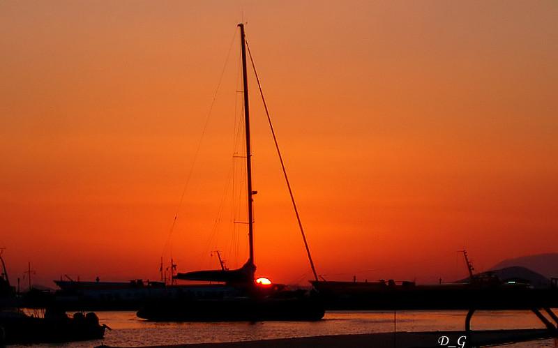 Ηλιοβασίλεμα στην Αίγινα