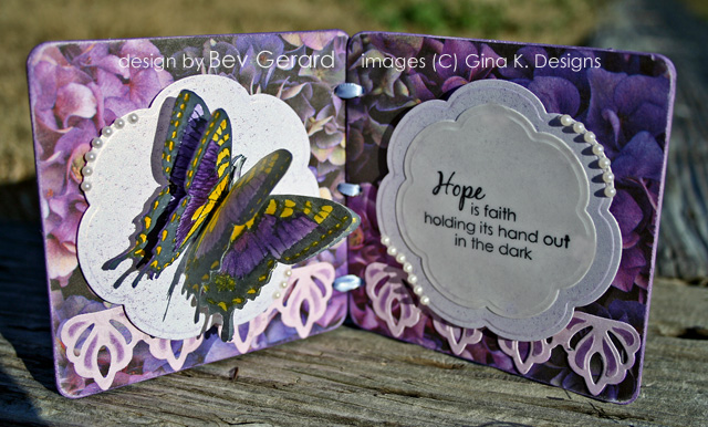 Hope is Faith Butterfly Framed - open view