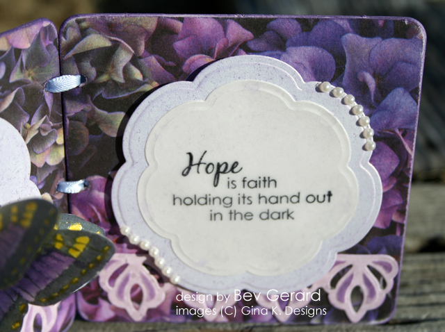 Hope is Faith Butterfly Framed - right side