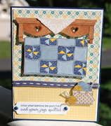 Quilt and knitting card