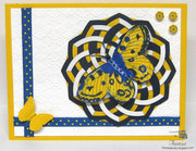 Geo Die in Navy, White and Yellow.