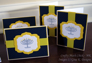 Hanukkah card set close up