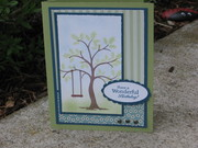 Giving Tree Sketch Card