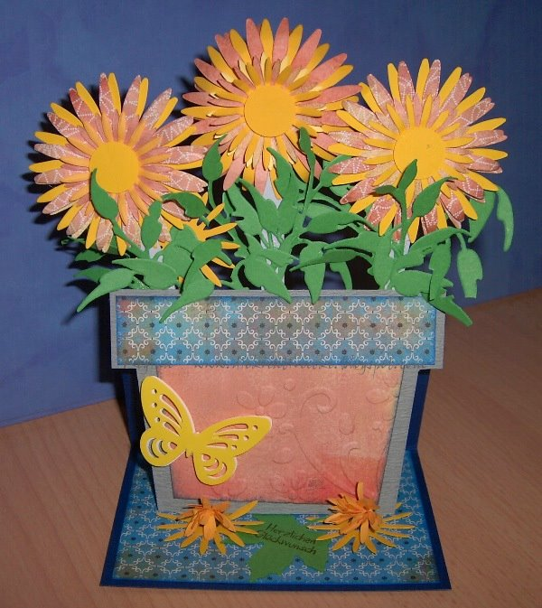 flower pot easel card