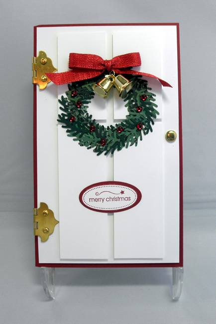 Christmas Wreath Door - Casing Donna Baker