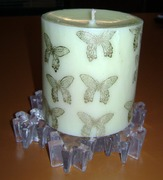 GINAKDAY2012 embossed candle