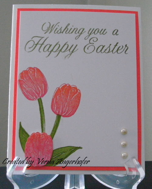 Tulip Easter Card