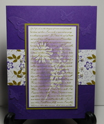 Emerging flowers and faux embossing