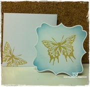 Gold embossed butterfly 4x4 (gkdmarch2012ct)