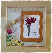Embossed Thank you!