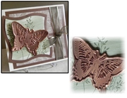 Faux Metal Butterfly Note Card