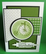 spotty green bicycle
