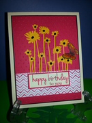 Cameo cut Flowers with GKD Bday Sentiment