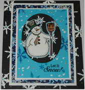 Let It Snow Embossed Snow and Snowman