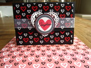 """Hearts"" gift card holder"