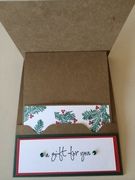 Christmas gift card holder inside