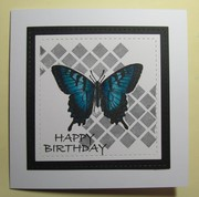 Stitched Blue butterfly