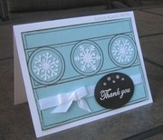Aqua Thank You with snowflakes