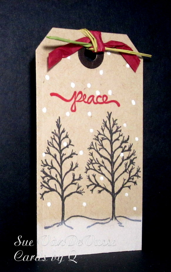Peace Christmas Tag