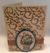 Basket of Blooms Thank You Card