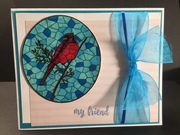 Stained Glass Cardinal