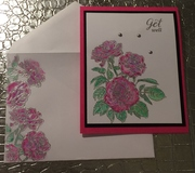 In the Pink -  Decorate envelope challenge