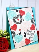 Hearts & Flowers StampTV Kit-Collage