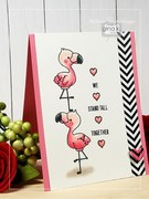 Flamingos Standing Tall