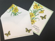Daffodil card and envelope