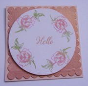 Stippled Flower with Rose Gold