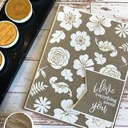 White Embossed Flower Mash Up