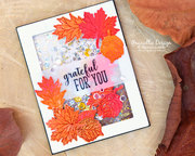 StampnFoil Fall Shaker Card