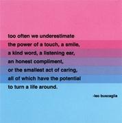 Too often we underestimate..