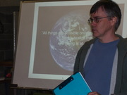 D Macleod presenting close up
