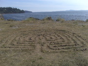 Labrynth at special beach south of Fairhaven