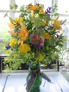 Summer birthday bouquet ready for delivery