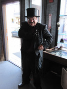 Steam Punk Ed at Museum with Top Hat
