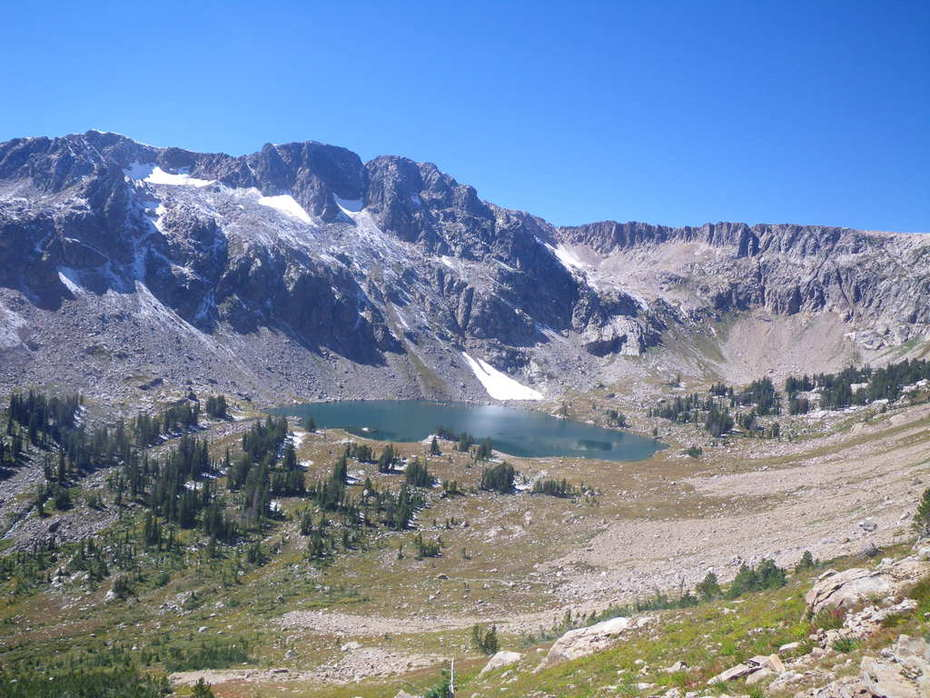 Surprise Lake from Paintbrush Divide